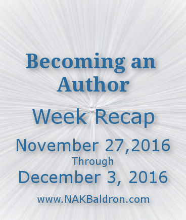 Week Recap December 3rd, 2016