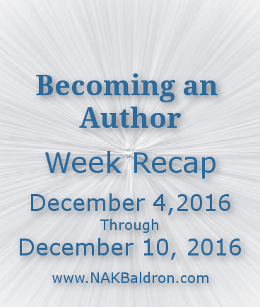 Week Recap December 10th, 2016