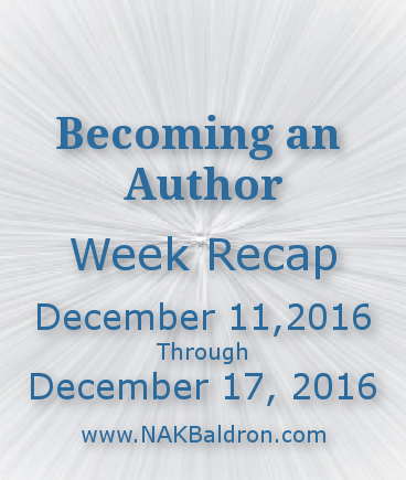 Week Recap December 17th, 2016