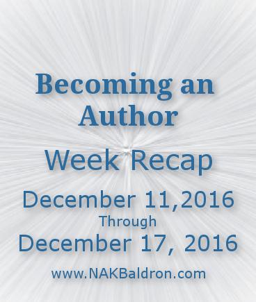 Week Recap December 17th, 2016
