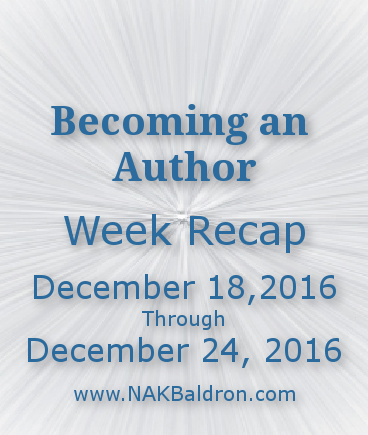 Week Recap December 24th, 2016