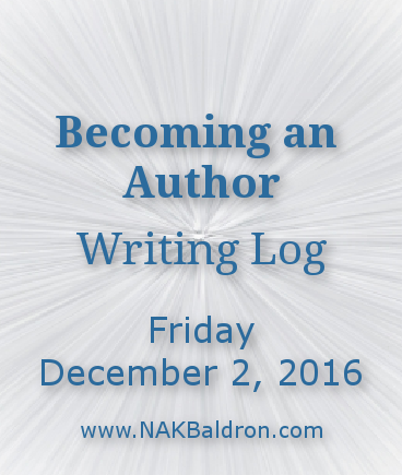 Writing Log December 2nd, 2016