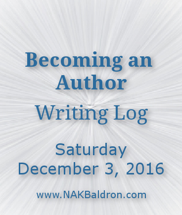 Writing Log December 3rd, 2016