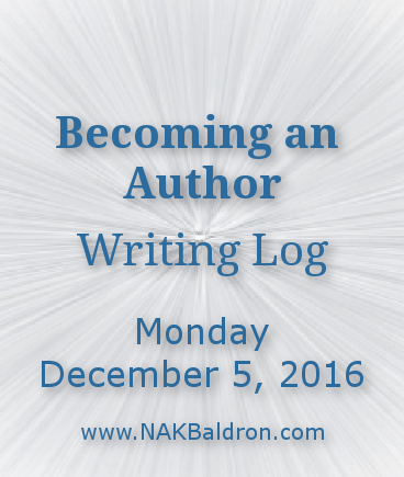 Writing Log December 5th, 2016