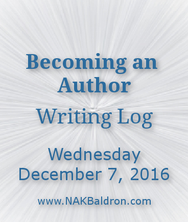 Writing Log December 7th, 2016