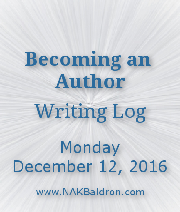 Writing Log December 12th, 2016