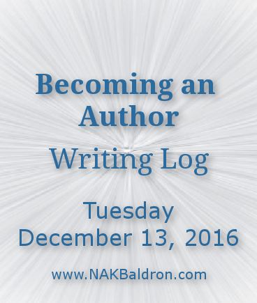 Writing Log December 13th, 2016