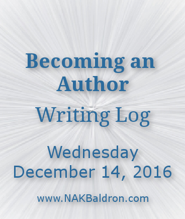 Writing Log December 14th, 2016