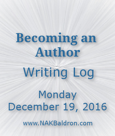 Writing Log December 19th, 2016
