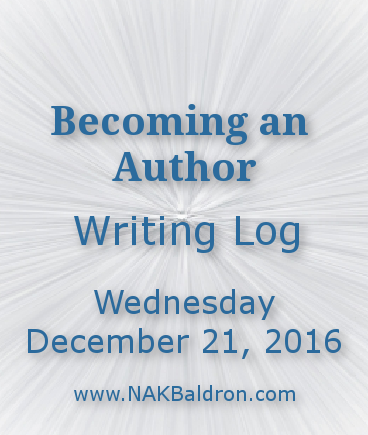 Writing Log December 21st, 2016