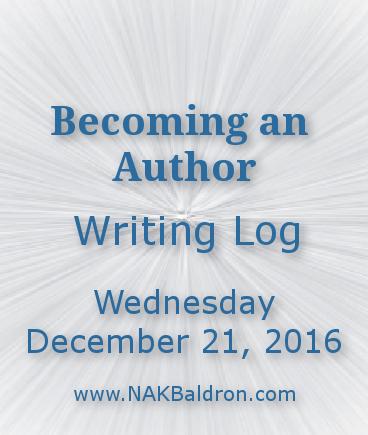 Writing Log December 21st, 2016