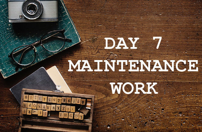 DAY 7 MAINTENANCE WORK