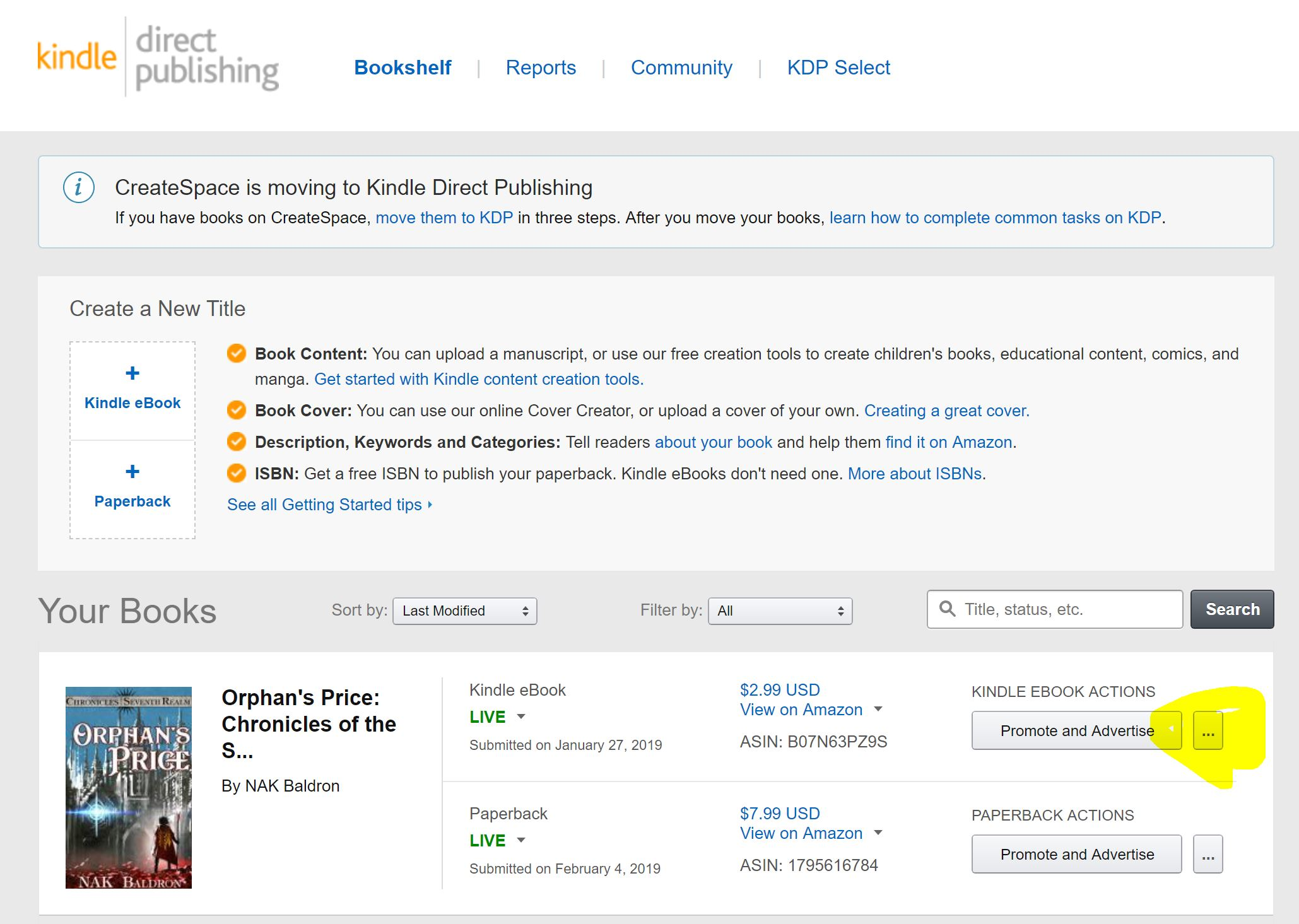Writing Advice: Discover KDP Select Page Count (KENPC): Step