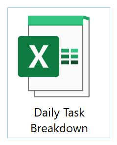 Daily Task Breakdown