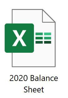 2020 balance sheet